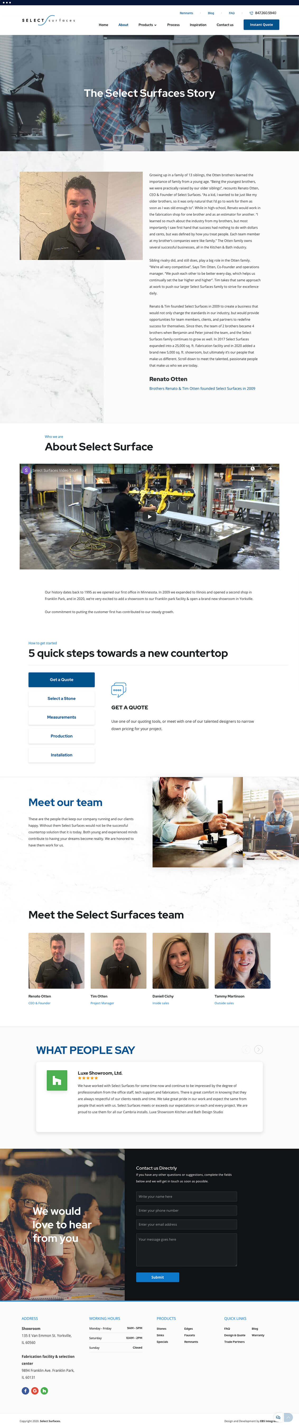 SelectSurfaces home page